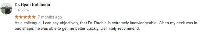 Chiropractic Urbandale IA Ryan Testimonial