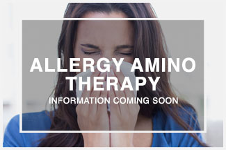 Chiropractic Urbandale IA Allergy Amino Therapy
